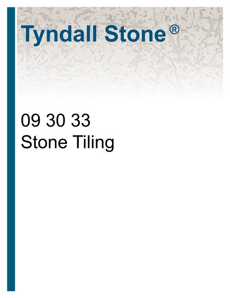 Tile Specification Cover