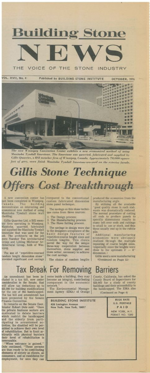 Building Stone News   Stone Technique pg 1  1976